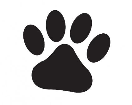 HundeSelbstklebende Kreidetafel: Pfote