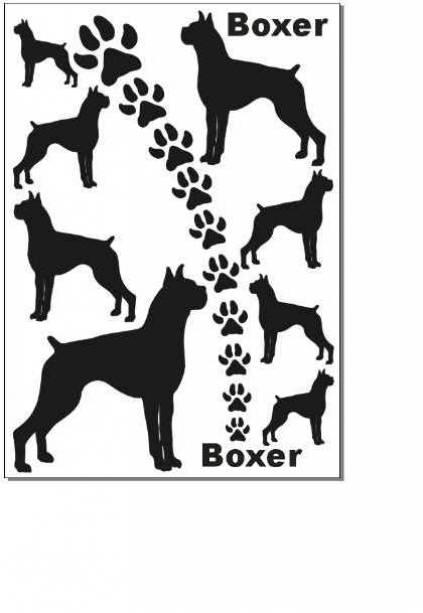 hunde aufkleber silhouetten satz boxer tierisch tolle geschenke. Black Bedroom Furniture Sets. Home Design Ideas
